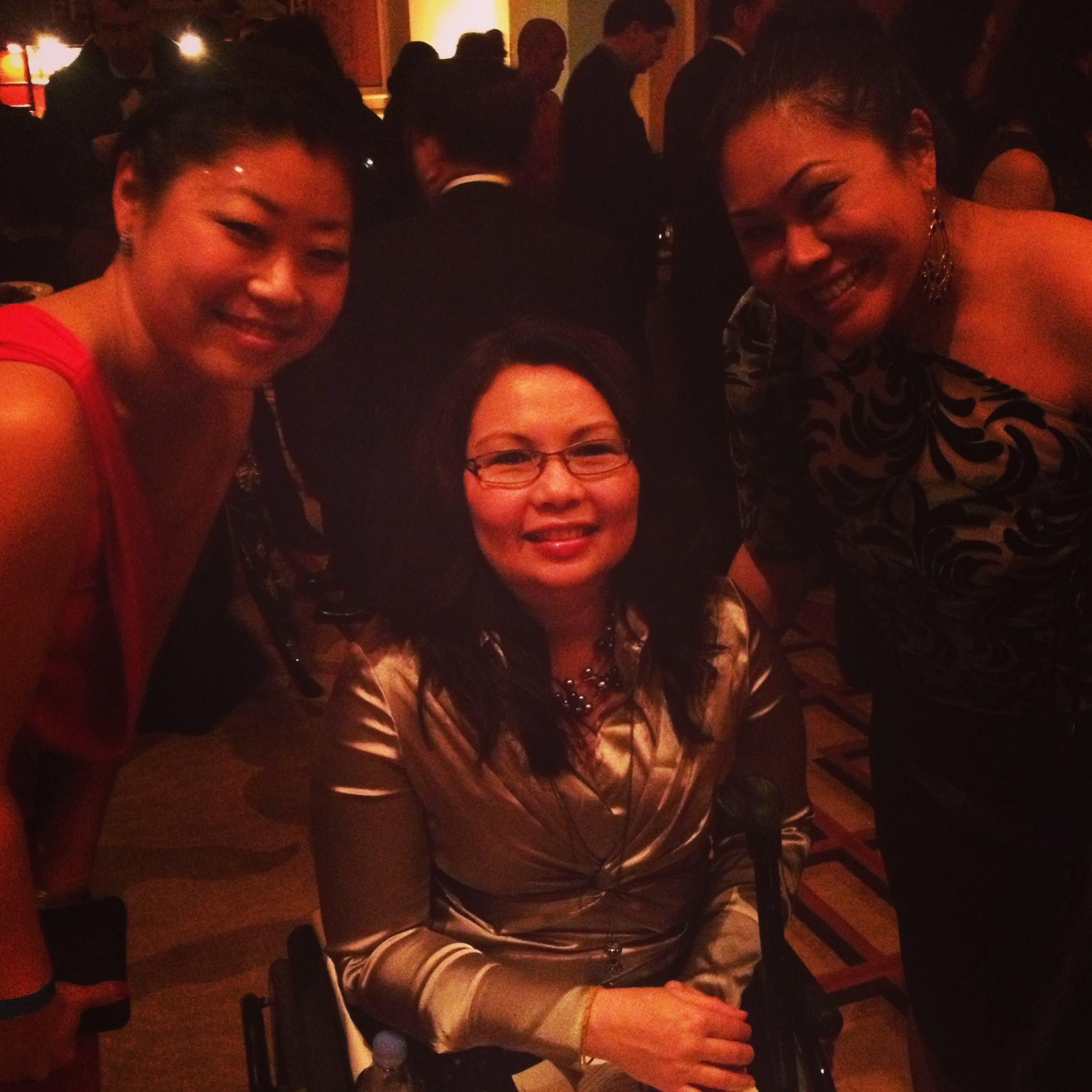 From left: 18MR's Jenn Pae, Congresswoman Tammy Duckworth, Genevieve Villafranca Jopanda of KAYA: Filipino Americans for Progress